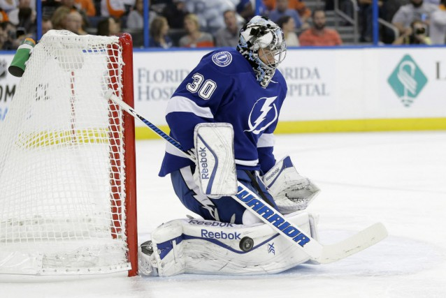 Ben Bishop a repoussé 35 rondelles pour signer... (Photo Chris O'Meara, Archives AP)