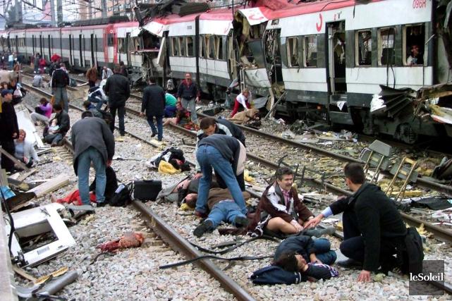 Le dynamitage d'un train à Madrid avait causé... (Photothèque Le Soleil)