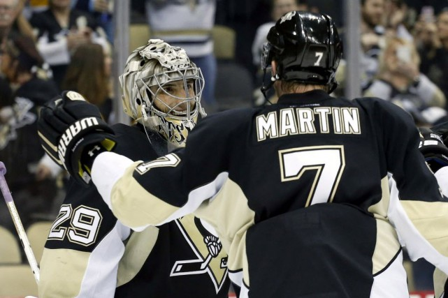 Les Penguins de Pittsburgh l'emportent 5-0 face aux... (Photo Charles LeClaire, Archives USA TODAY)