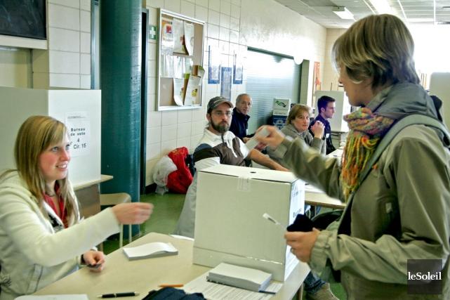 Lors des dernières élections scolaires, en 2007, 7,8... (Photothèque Le Soleil)