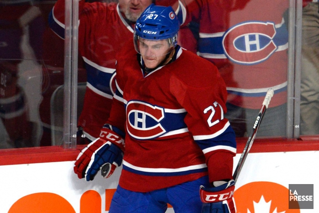 Alex Galchenyuk a pris part à l'entraînement de... (Photo Bernard Brault, La Presse)