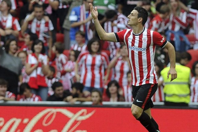 Aritz Aduriz, de l'Athletic Bilbao, a été l'unique... (PHOTO RAFA RIVAS, AFP)