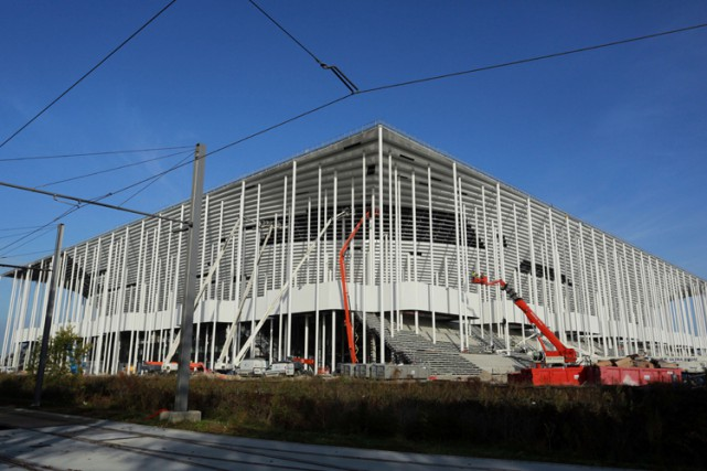 La construction du nouveau stade de Bordeaux.... (Photo: AFP)