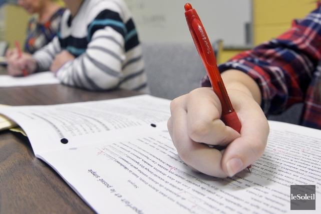 Cette épreuve d'écriture consiste à rédiger une lettre... (Photothèque Le Soleil, Jean-Marie Villeneuve)