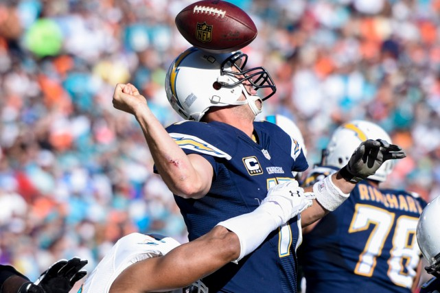 Philip Rivers et les Chargers ont subi une... (Photo Brad Barr, USA Today Sports)