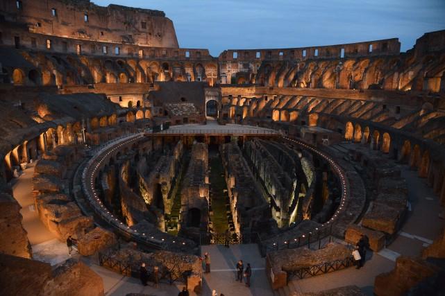 Le Colisée a eu un plancher qui couvrait... (Photo VINCENZO PINTO, AFP)