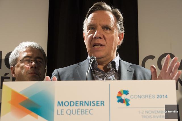 Le chef de la CAQ, François Legault, a... (Photo: Stéphane Lessard, Le Nouvelliste)