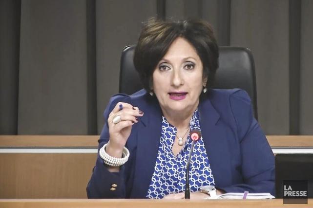La juge France Charbonneau... (PHOTO TIRÉE D'UNE VIDÉO)