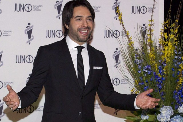 Jian Ghomeshi aux Juno en mars dernier.... (Photo: archives La Presse Canadienne)