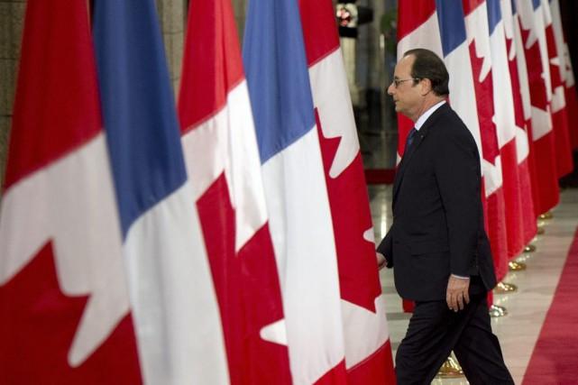 Le président François Hollande à Ottawa, au deuxième... (Agence France-Presse)