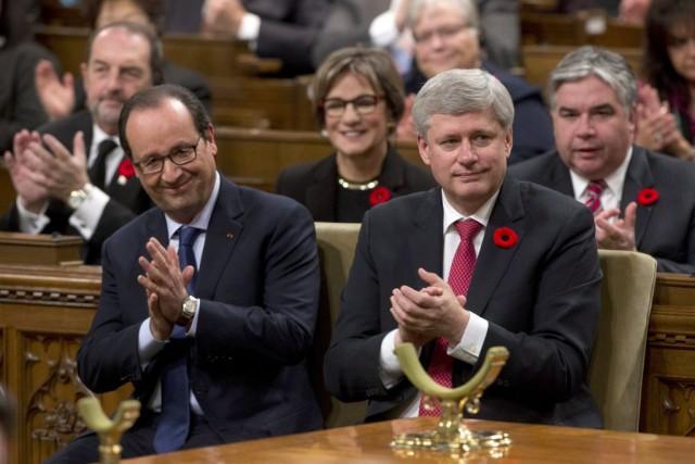 Dans un discours devant le Parlement, ce matin,... (PHOTO LA PRESSE CANADIENNE)