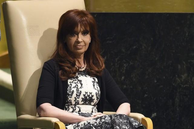 Cristina Kirchner lors d'une assemblée à l'ONU en... (Photo: AFP)