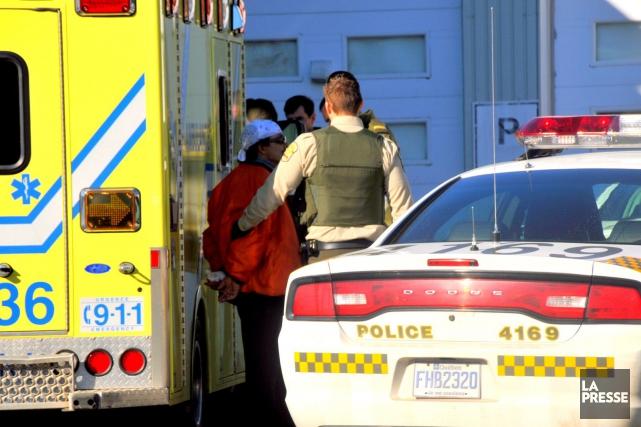 Un homme a été arrêté à Drummondville à... (Photo collaboration spéciale Éric Beaupré)