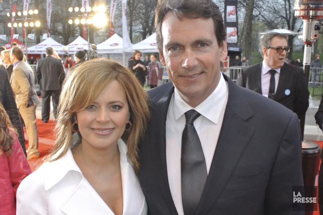 Julie Snyder et Pierre Karl Péladeau, photographiés sur... (Photo: archives La Presse)