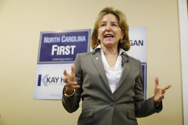 La sénatrice démocrate sortante, Kay Hagan.... (PHOTO CHRIS KEANE, REUTERS)
