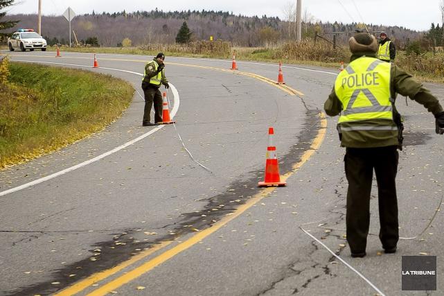 L'accident mortel a eu lieu sur la route... (Imacom, Jocelyn Riendeau)