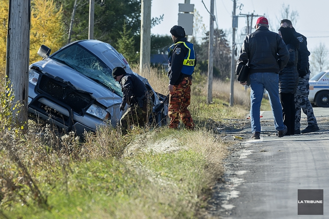 L'accident mortel est survenu tôt lundi matin sur... (Imacom, Frédéric Côté)