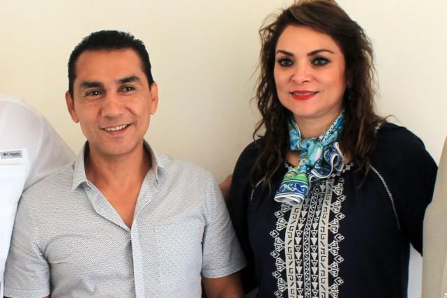 José Luis Abarca et son épouse, María de... (PHOTO JESUS GUERRERO, ARCHIVES AFP)