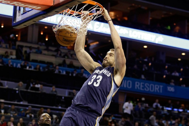 Marc Gasol... (Photo Bob Leverone, archives AP)