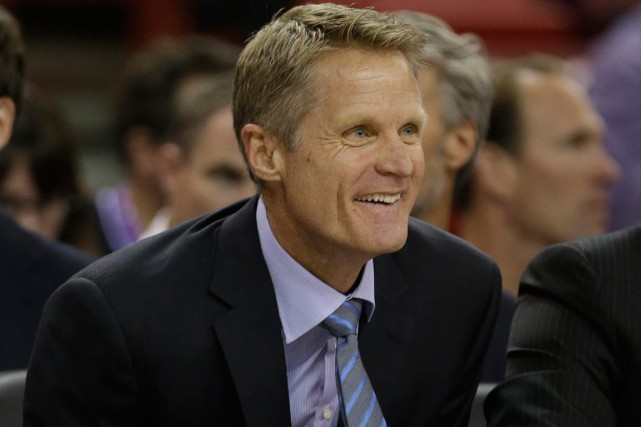 L'entraîneur des Warriors de Golden State, Steve Kerr.... (Photo Rich Pedroncelli, AP)