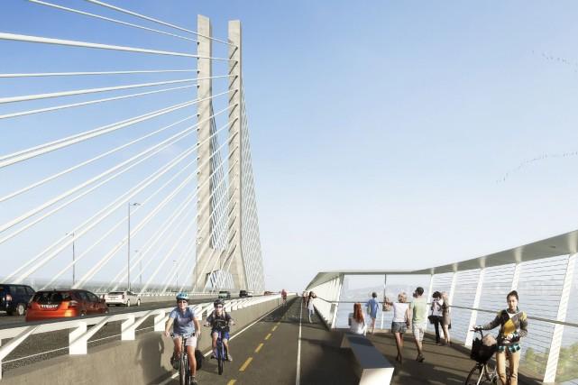 Le future pont qui remplacera l'actuelle pont Champlain... (PHOTO FOURNIE PAR INFRASTRUCTURE CANADA)