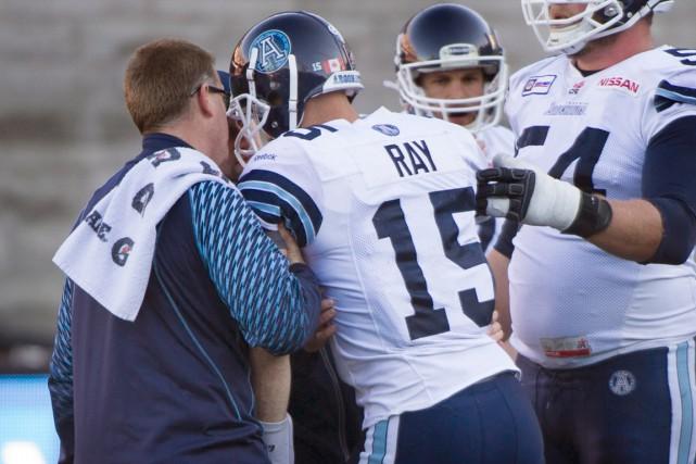 Le quart-arrière des Argonauts Ricky Ray a subi... (Photo Graham Hughes, PC)