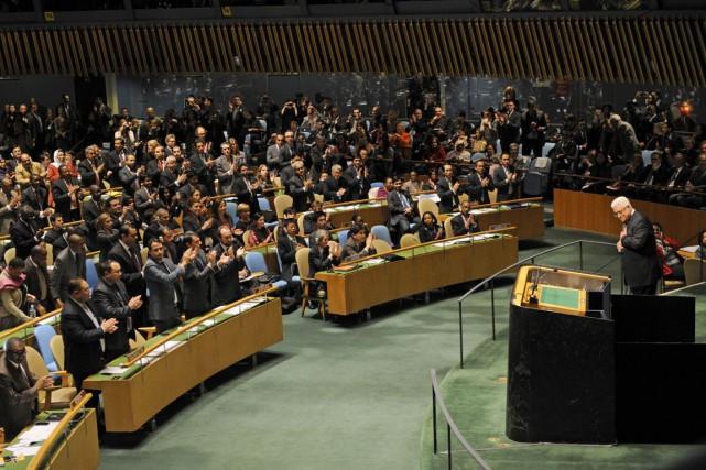 La Palestine avait accédé au statut d'État observateur... (PHOTO HENNY RAY ABRAMS, ARCHIVES AFP)