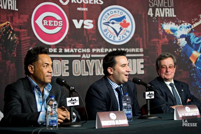 L'ancien joueur des Blue Jays Roberto Alomar, le... (Photo Patrick Sanfaçon, La Presse)