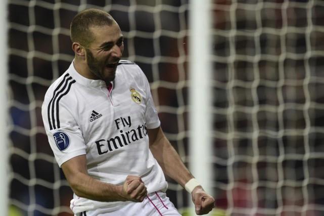 Karim Benzema a inscrit le but vainqueur pour... (Photo JAVIER SORIANO, AFP)