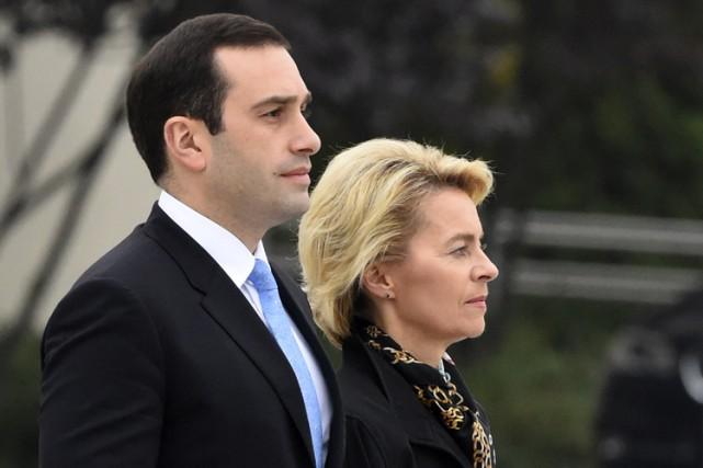 Le ministre de la Défense Irakli Alasania aux... (Photo: AFP)