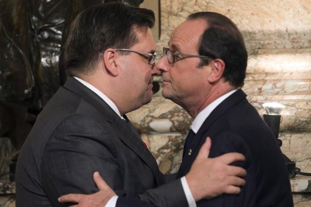 Pour le maire, que le président François Hollande... (Photo PC)