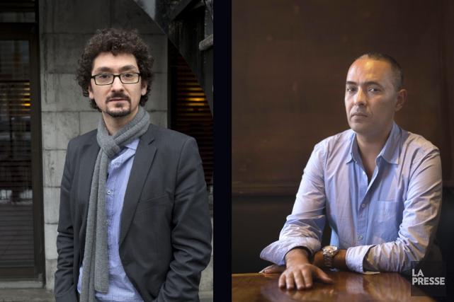 David Foenkinos et Kamel Daoud sont les deux... (Photos La Presse, AFP)