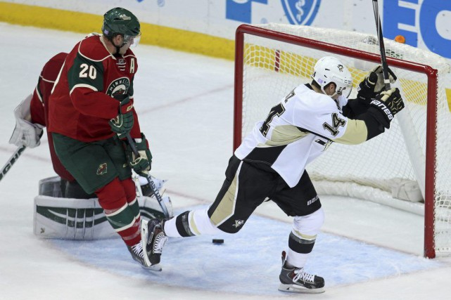 Pittsburgh s'est imposé 4-1 aux dépens du Wild... (Photo USA Today Sports)