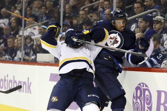 Les Jets de Winnipeg ont marqué deux fois en avantage numérique en seulement... (Photo: Reuters)