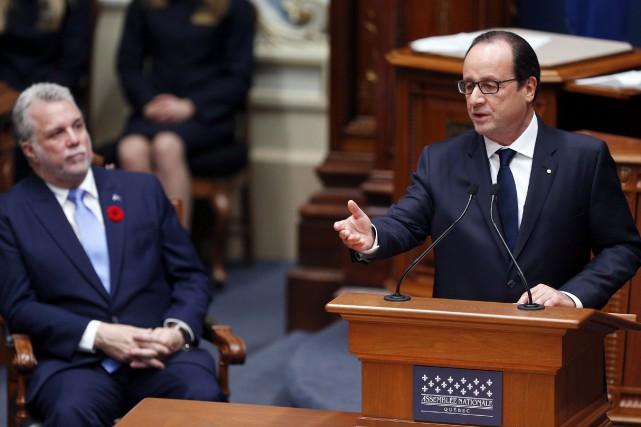 Le premier ministre du Québec, Philippe Couillard, et... (Archives La Presse Canadienne)