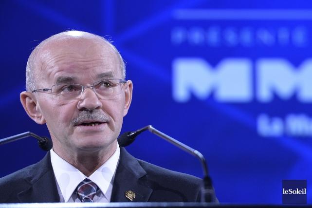 Richard Lehoux, président de la FQM, était de... (Photothèque Le Soleil)
