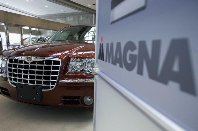 Le fabricant de pièces automobiles Magna International (T.MG)... (Photo archives PC)