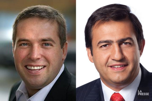 Les députés libéraux Scott Andrews et Massimo Pacetti... (PHOTOS D'ARCHIVES)