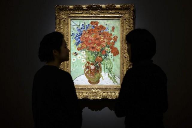 Vase avec marguerites et coquelicots de Vincent van... (Photo: AFP)