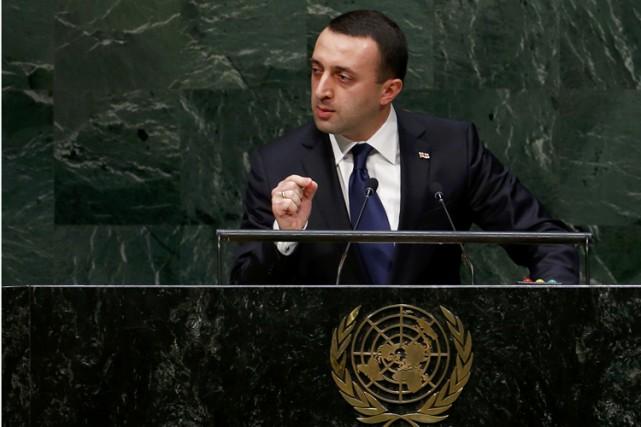Irakli Garibachvilià l'ONU en septembre dernier.... (PHOTO REUTERS)