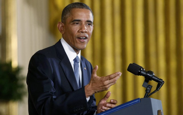Barack Obama a tenu une conférence de presse... (KEVIN LAMARQUE)