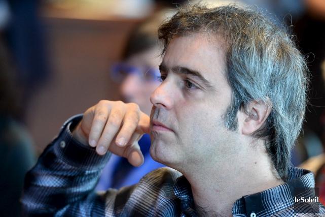 Vincent Roy, qui dirige EXMURO arts publics, est... (Le Soleil, Erick Labbé)