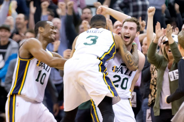 Gordon Hayward (à droite)... (Photo Russell Isabella, USA Today Sports)