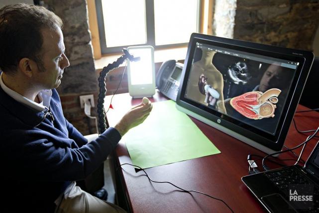 Le Dr Yanick Beaulieu, président de Technologies interactives... (Photo Patrick Sanfaçon, La Presse)