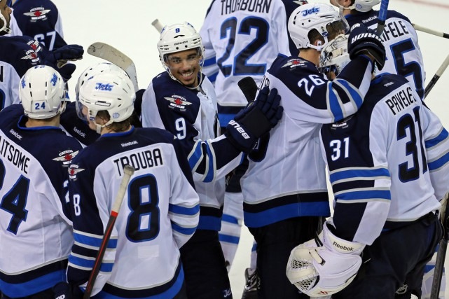 Les Jets de Winnipeg sont invaincus à leurs... (Photo Adam Hunger, USA Today Sports)