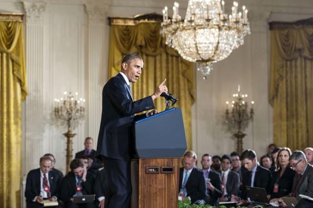 Le président Obama n'a pas versé dans le... (PHOTO BRENDAN SMIALOWSKI, AFP)