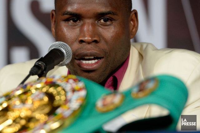 Le boxeur Adonis Stevenson lors d'un point de... (Photo Bernard Brault, archives La Presse)