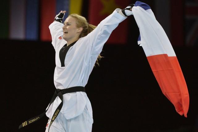 Marlène Harnois a remporté une médaille de bronze... (Photo Alberto Pizzoli, archives AFP)