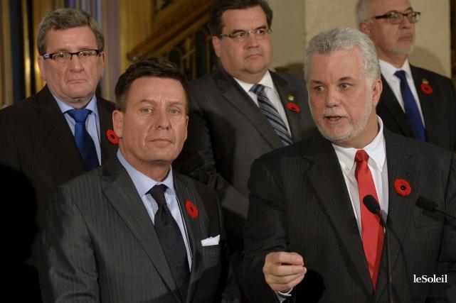 Le pacte fiscal transitoire présenté mercredi par le... (Le Soleil, Pascal Ratthé)