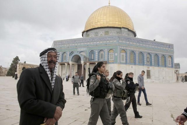 Jérusalem-Est, partie palestinienne de la ville annexée et... (PHOTO AHMAD GHARABLI, ARCHIVES AFP)